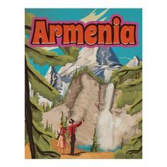 Armenia Vintage Travel Poster | Zazzle.com