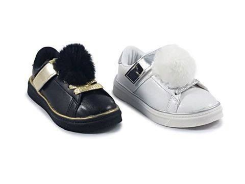Pom trainers with glitter lace and Velcro strap are the perfect accessory for your little princess !!!  Sizes 9 - 3  For only £9.99  https://www.facebook.com/LittleKickersKiddieShoes/?utm_content=buffer8cdb3&utm_medium=social&utm_source=pinterest.com&utm_campaign=buffer... #glitter#girls#cute#black#white #silve #gold#littlekickerskiddieshoes #shoes #fashion #childrensshoes #footwear #pompom #lace See More
