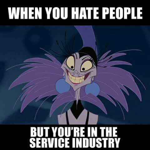 """I feel this when encountering """"Difficult"""" customer... Guess I have to check the mirror Next time"""