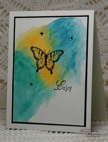 Stamping with Klass: Watercolor Splotches Tutorial
