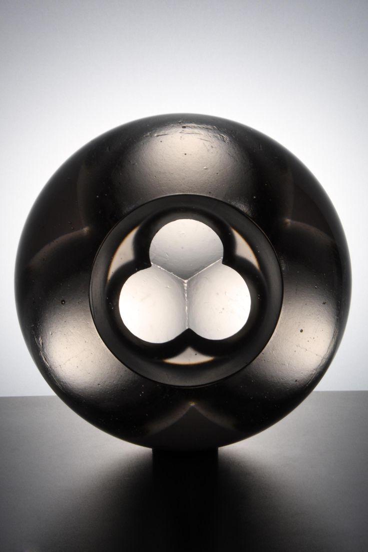 Jan Exnar, Triplex,  Cast glass 30x30x30 cm 12x12x12 inches