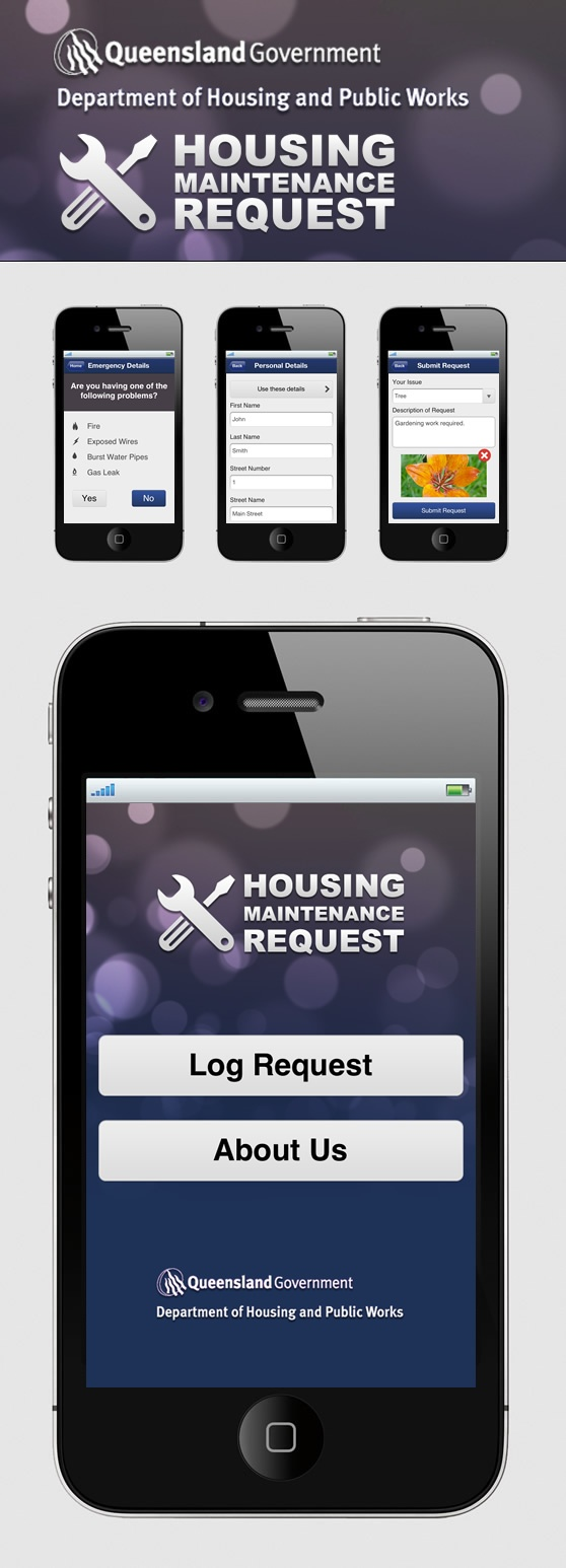 H Housing Maintenance iOS App Website