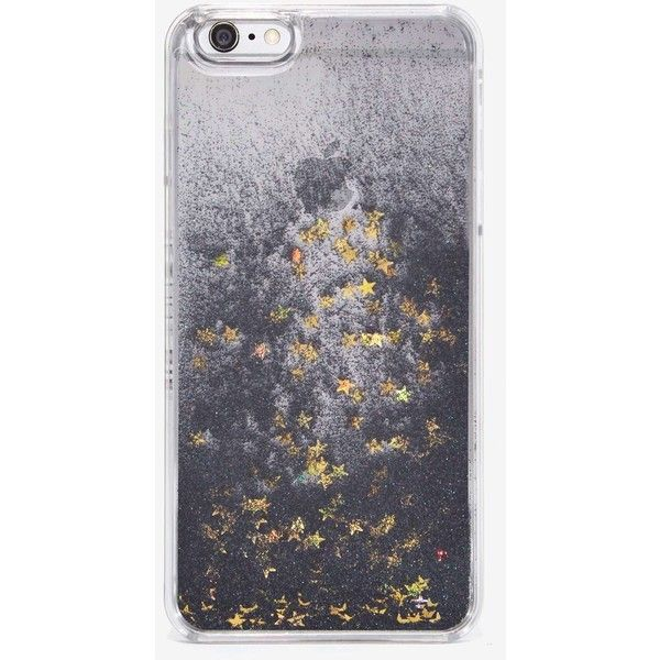 Skinnydip London Fairy Dust iPhone 6 Plus Case ($28) ❤ liked on Polyvore featuring accessories, tech accessories, phone cases and black