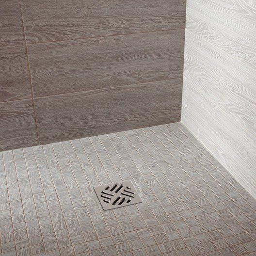 Carrelage sol et mur gris clair effet bois Avoriaz l.20 x L.60.4 cm