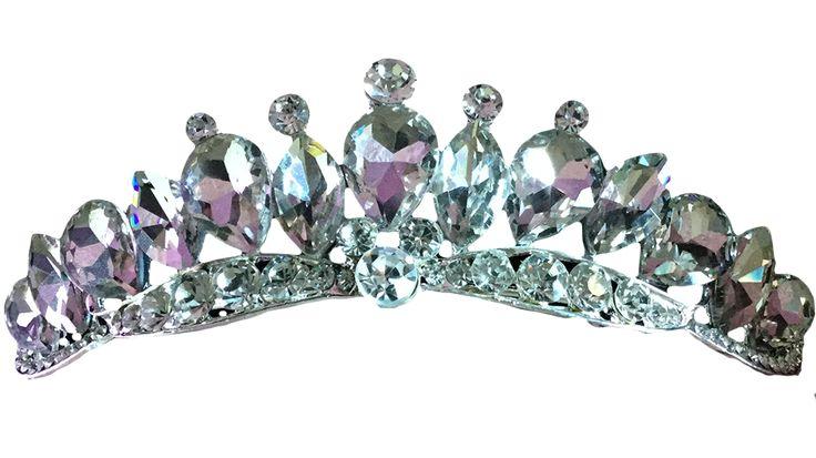 VirkotieKATHERINE Tiara Virkotie KATHERINE Tiara Silver Faux Diamond Sparkle Princess Pretty @VIRKOTIE www.virkotie.com