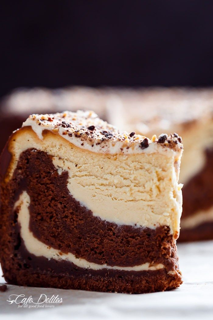 Chocolate Peanut Butter Cheesecake Cake made in the ONE pan!