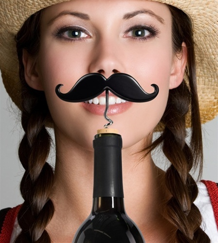 LOL fun with Handlebar Corkscrew for Fiesta Party Ideas