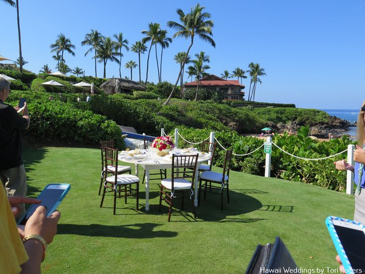 Four Seasons Wailea Beach Front Lawn Design By Hawaiian Style Events Rental And Country Bouquets