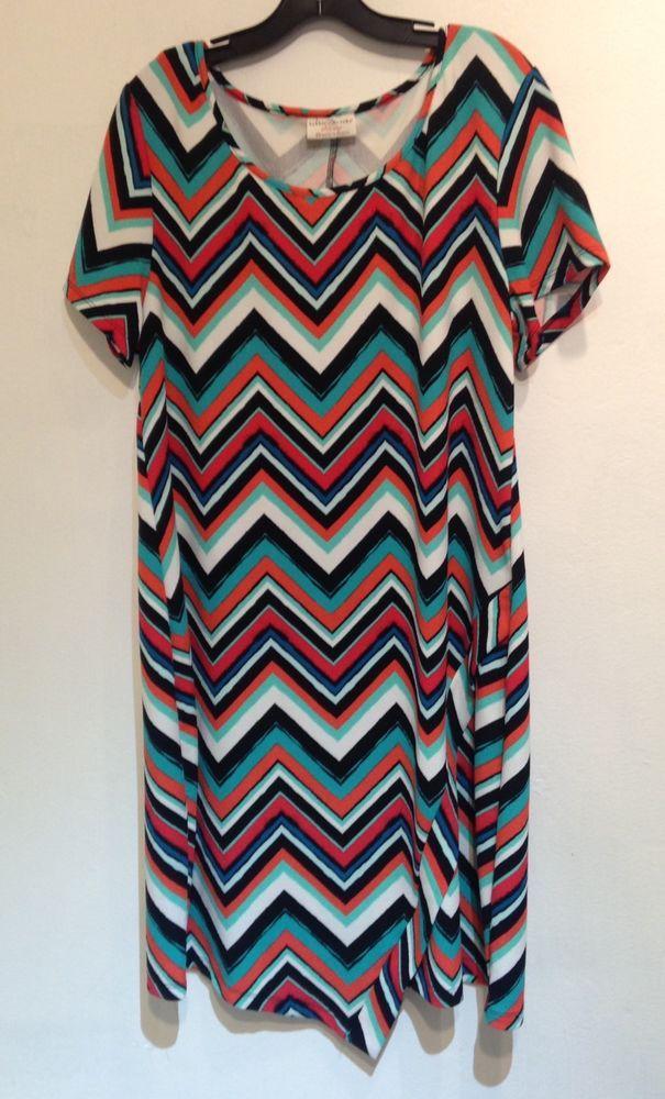bobbie brooks Plus Size chevron dress size 2X #BobbieBrooks #ShirtDress #Casual