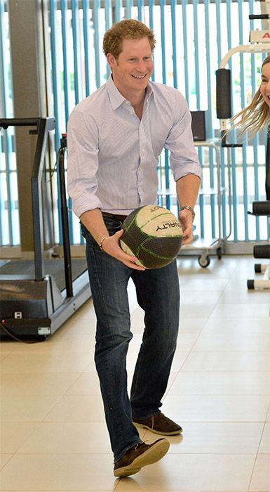 Prince Harry visits hospital in Brazil - Photo 3 | Celebrity news in hellomagazine.com