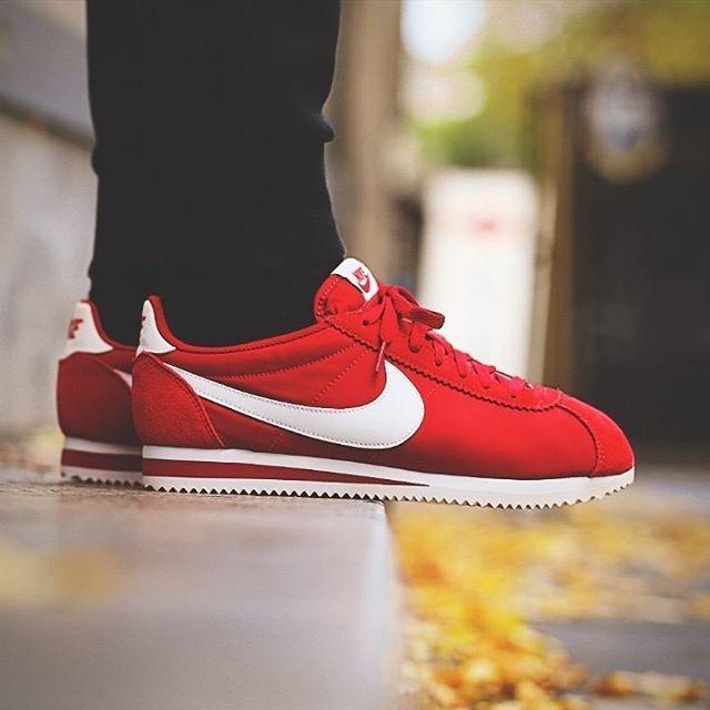 promo code 89607 fa323 Nike Classic Cortez Nylon  Gym Red   Foot wears   Nike, Nike shoes, Running  shoes nike