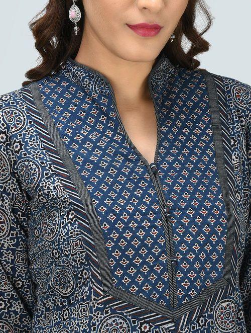 Blue Ajrakh Printed Cotton Kurta