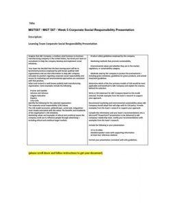 MGT567   MGT 567   Week 5 Corporate Social Responsibility Presentation --> http://www.scribd.com/doc/142413659/mgt567-mgt-567-week-5-corporate-social-responsibility-presentation