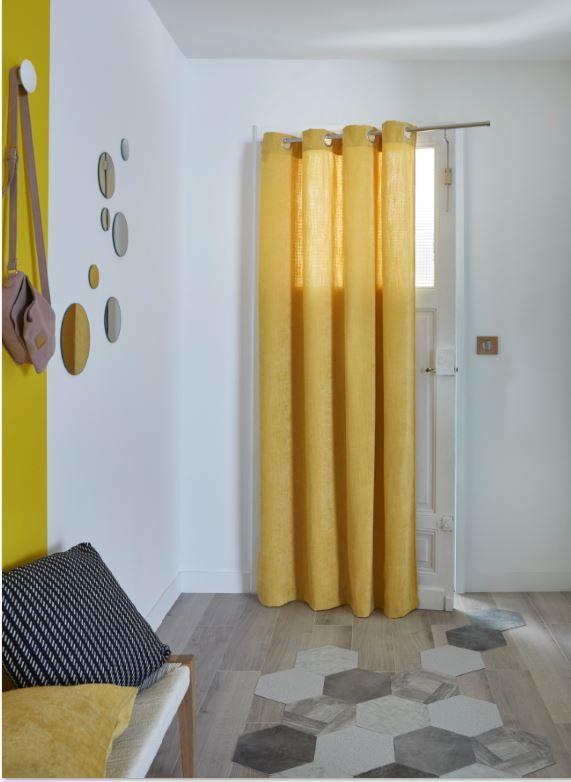 Rideau Colours Spanish Jaune 140 X 240 Cm Rideau Jaune Decoration Maison Porte D Entree