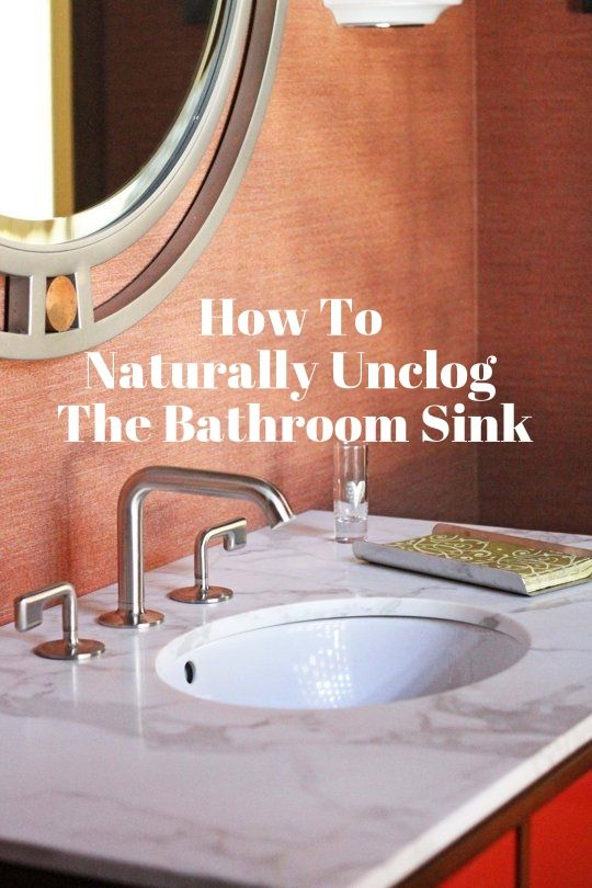 How To Naturally Unclog The Bathroom Sink The O 39 Jays Baking Soda And Sodas