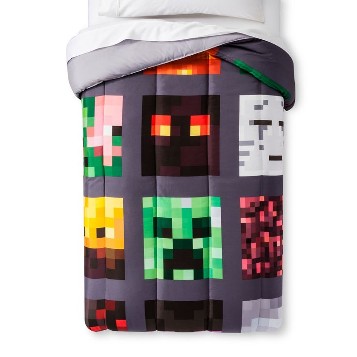 Add a little flair to his wardrobe with the Boys' Minecraft Button-Down Shirt. This short-sleeve top offers classic style with a button-down collar, shirttail hem and front buttons. It's finished with a spunky Minecraft print over bright green.