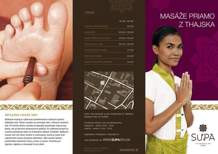SUPA Thai massage & spa Trenčín, Slovakia letak