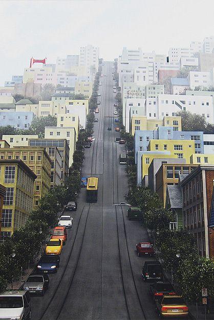 Rua em São Francisco, Califórnia, USA.