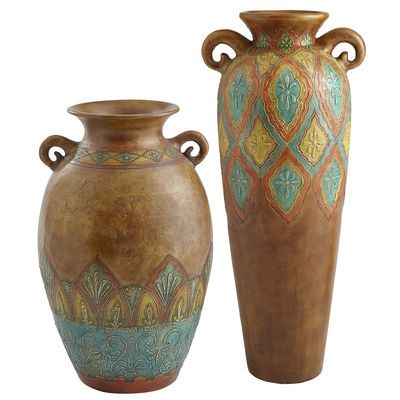Terracotta Embossed Floor Vases Gorgeous 60 00 Gmas