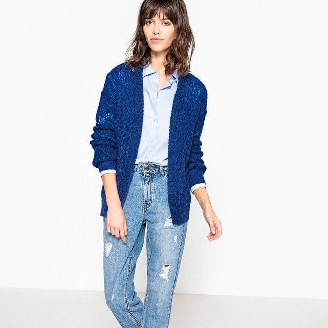 Image Fine-Knit Open Cardigan La Redoute Collections