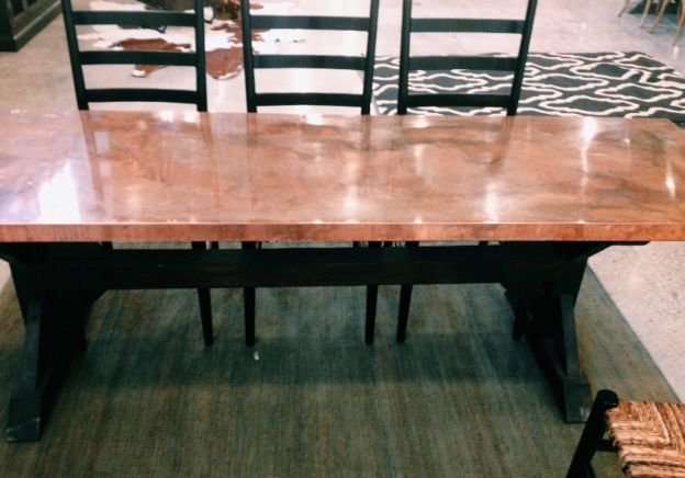 Copper Top Dining Table Dining Table Table
