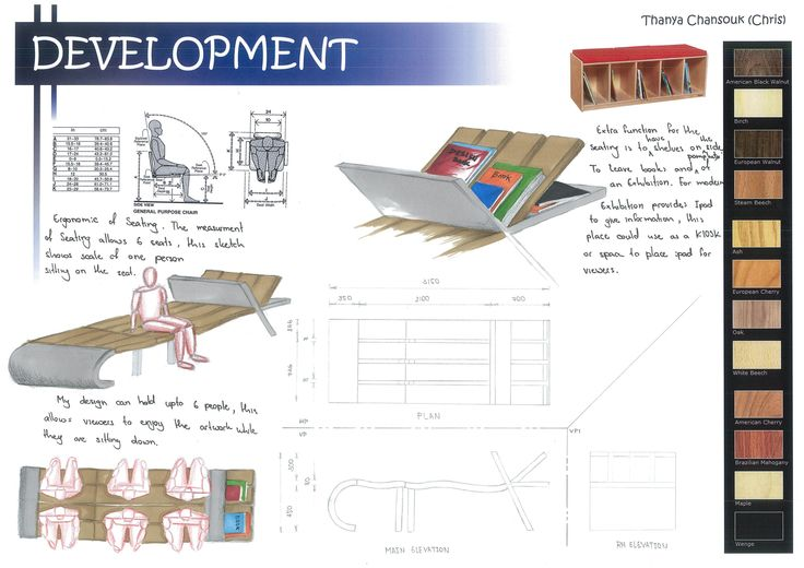 Seating Development 2 with Orthographic Drawing