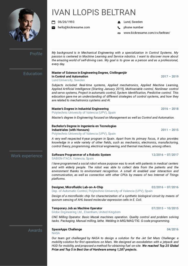 40 mechanical engineer resume sample in 2020 mechanical