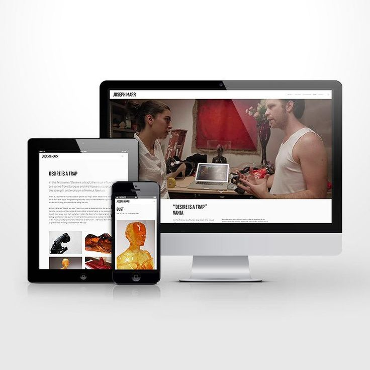 KORE worked with @josephmarr to design a visually engaging #responsive #wordpress #website that displayed his works in the best possible light on all devices. #wordpress #ui #ux #uidesign #uxdesign  #mobiledesign #design #interactiondesign #digitaldesign