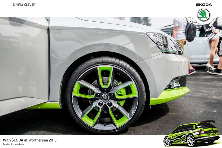 The ŠKODA FUNstar drives up on 18-inch 'Gemini' alloys from the Octavia RS. The engine is a 1.2 TSI petrol with 90 kW #SKODAWoerthersee #PickupFunstar