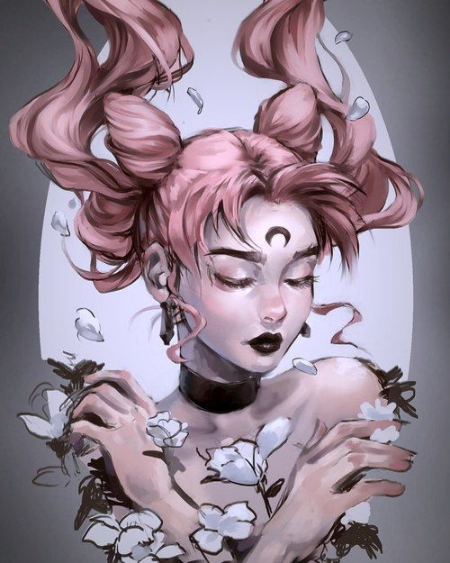 art and sailor moon image