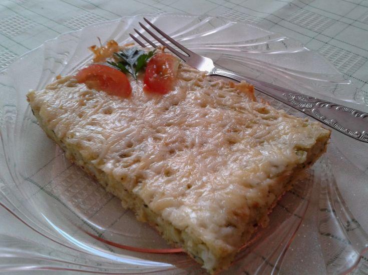 Fotorecept: Slaný cuketový koláč