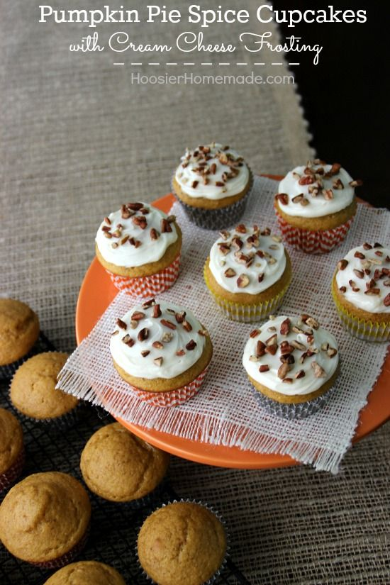 ... | Spice cupcakes, Caramel apple suckers and Homemade whipped cream