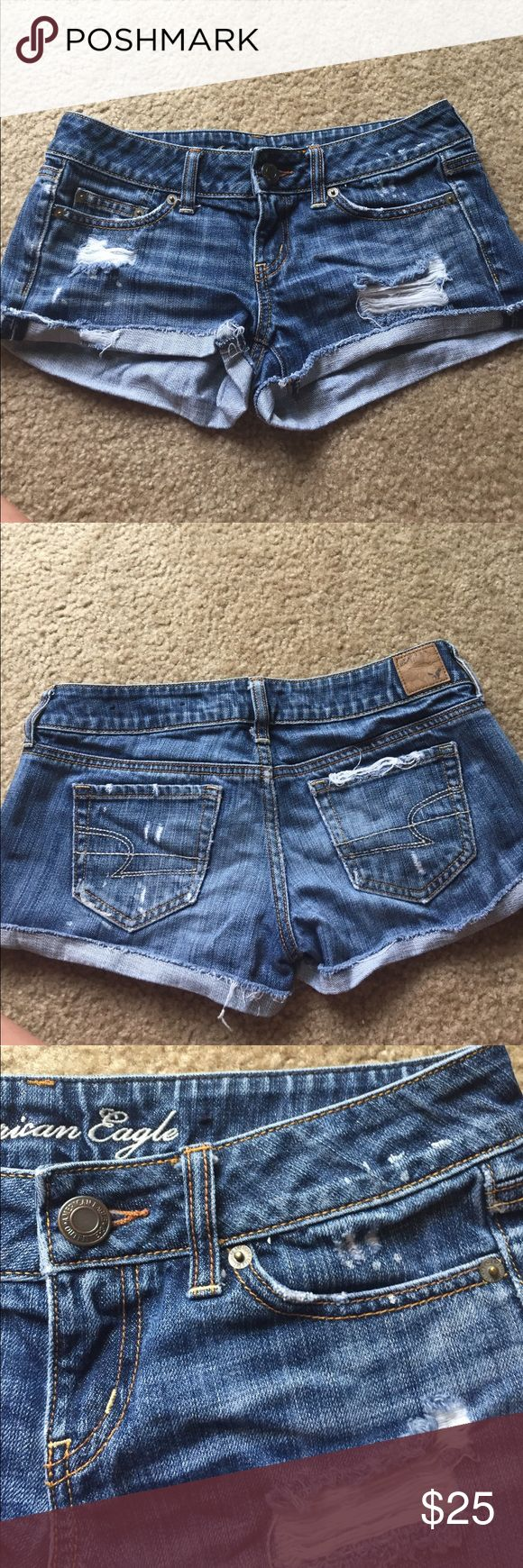 American eagle jean shorts Women's American eagle jean shorts. Size 2. Vintage wash/ look. Very comfortable American Eagle Outfitters Shorts Jean Shorts