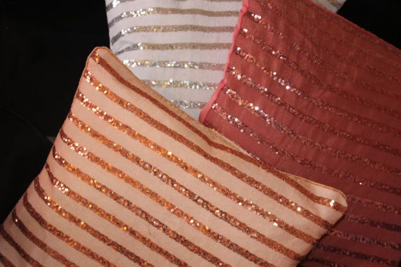 sparkle pillowsglittery cushionDecorative by SidrealHome on Etsy