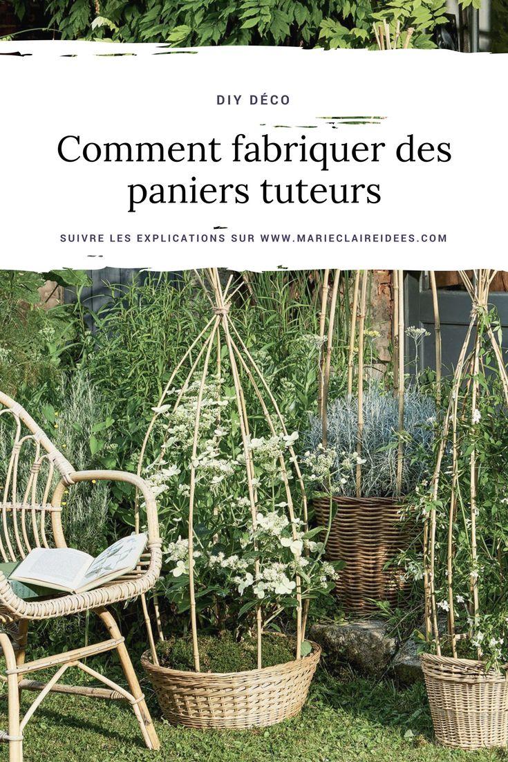 comment fabriquer des paniers tuteurs en bambour / diy déco