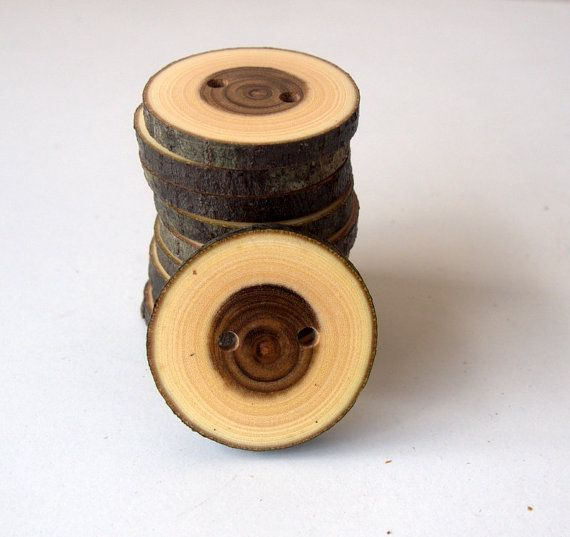 NEW  Wood Buttons  10 Buttons  Judas Tree Branch Buttons