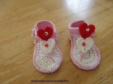 gehaakte baby flip flop, nederlands patroon