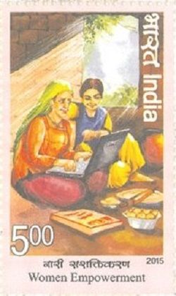 Postage Stamp on Woman Empowerment in 2015