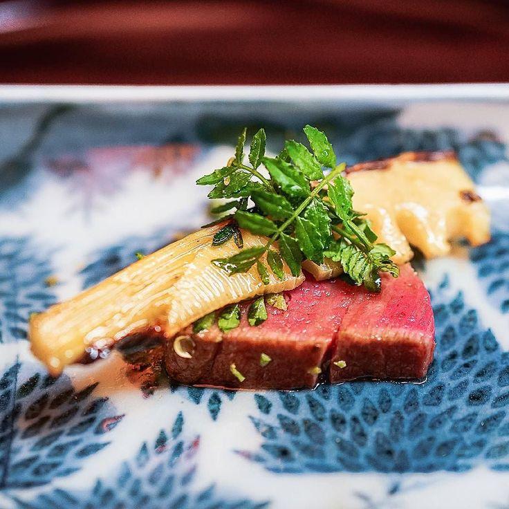 近江牛ヒル 京都の筍 Omi Wagyu fillet & spring bamboo shoots from Kyoto // it's so hard to eat at a normal steak place once you had this super succulent fillet of Japanesse Omi Wagyu. I rarely eat beef cuz of digestive issues but 'BUT'. - Matsukawa 松川 #missneverfull_Tokyo by miss_neverfull
