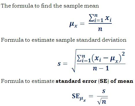 Standard Error (SE) Calculator