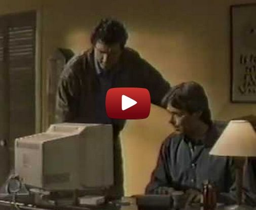 Early AOL ad shows how efficient life becomes when you have the internet.  It's great! Now we can use the internet to get back to real life!...... wait....