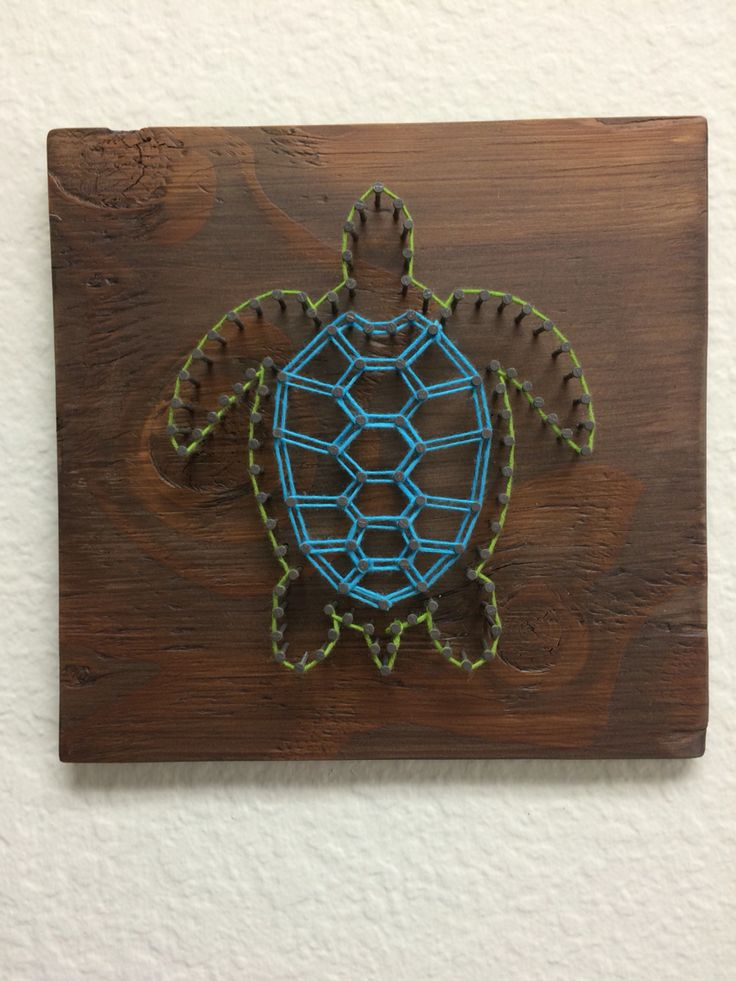 Sea Turtle String Art                                                                                                                                                      More