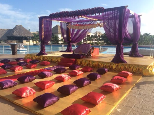 A beautiful Sikh wedding setup at Hard Rock Punta Cana Email info@beachvows.ca for your personal complimentary consultation!
