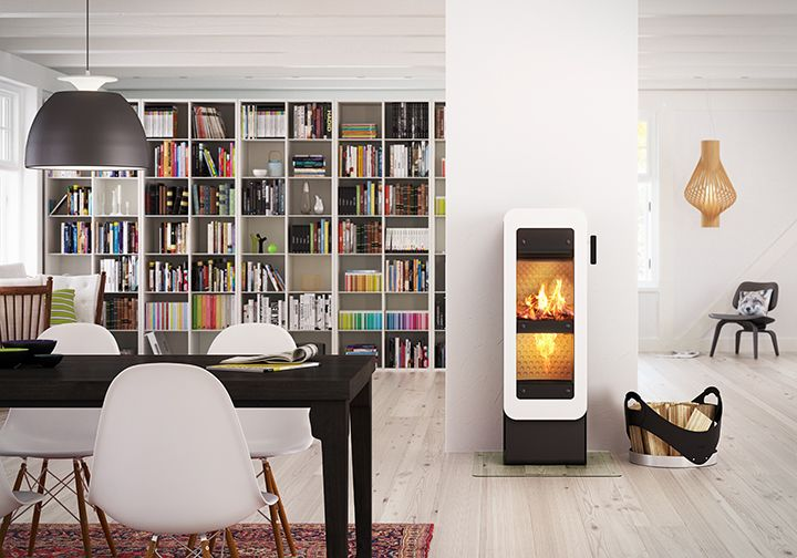 Decorative #bionicfire from #RAIS, which is #green, high-tech and incredible beautiful. #fireplace #bionic #brændeovn