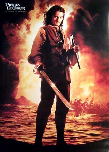 Pirates of the Caribbean Orlando Bloom Movie Poster 25x35