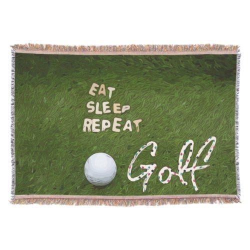 Eat Sleep Golf Throw blanket | Zazzle.com