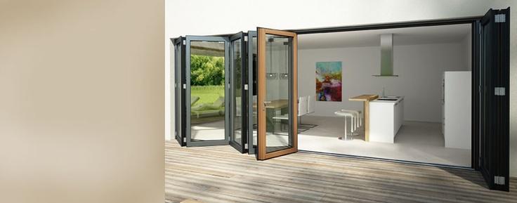 Solarlux - Balcony glazing - Bi Fold Doors - Folding Glass Door System - Conservatories sun room - Folding Systems - External folding doors