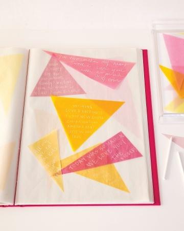 Translucent Tidings: Guestbook Ideas, Guest Books, Album Guestbook, Wedding, Paper, Colors Palettes, Books Ideas, Glue Sticks, Chalk Pencil
