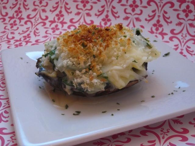 Portabello Mushrooms With Creamy Spinach-Artichoke Filling Recipes ...