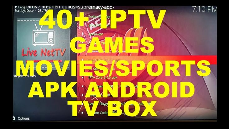 Android TV Box 40+ IPTV, Movies, Game, Sports APK, Kodi APK